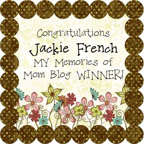 Mothers Day Blog Winner