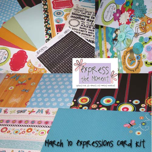 March 10 Expressions Card Kit