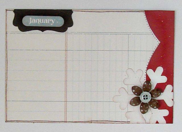 January 2011 Everyday Memories Journal Card